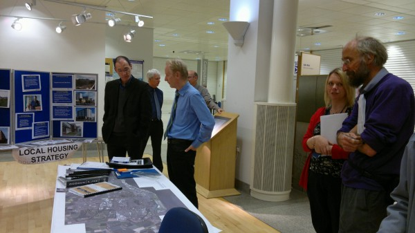Members of FoE Tayside talking with Council officials about the Dundee Local Development Plan