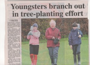 Press coverage of tree planting at Kirriemuir