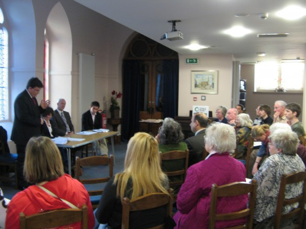 Election hustings organised by FoE Tayside in May 2011